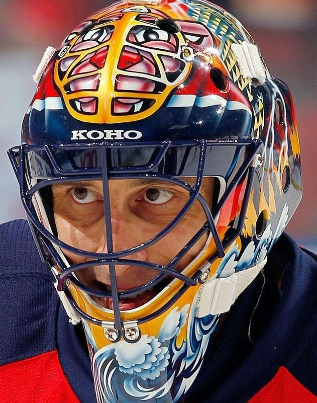 4 99 Roberto Luongo Goalie Mask Florida Panthers Nhl Hockey 8x10