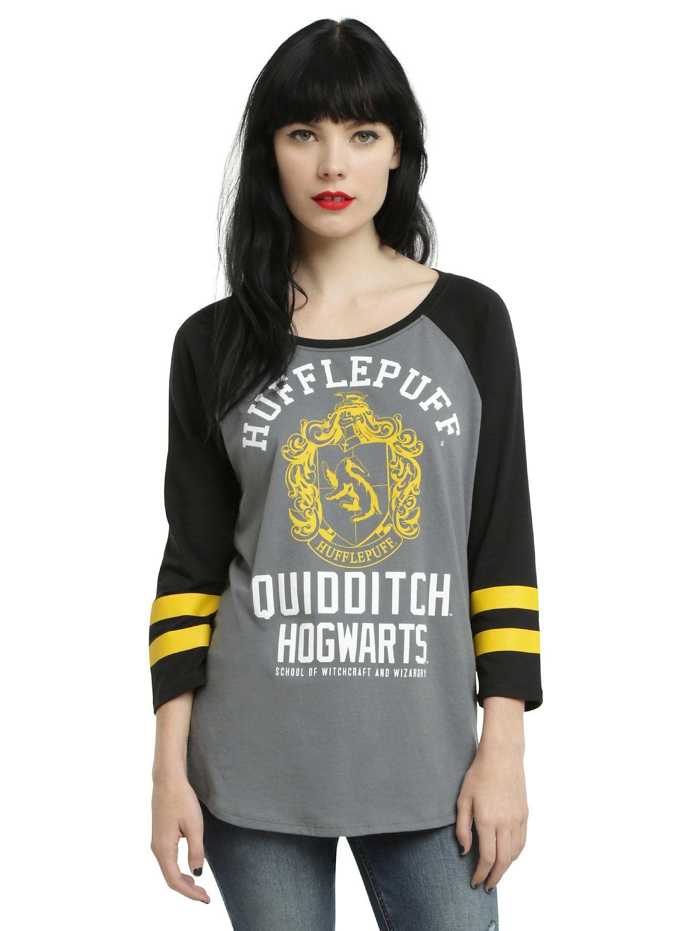 Harry Potter Hufflepuff Quidditch Girls Raglan