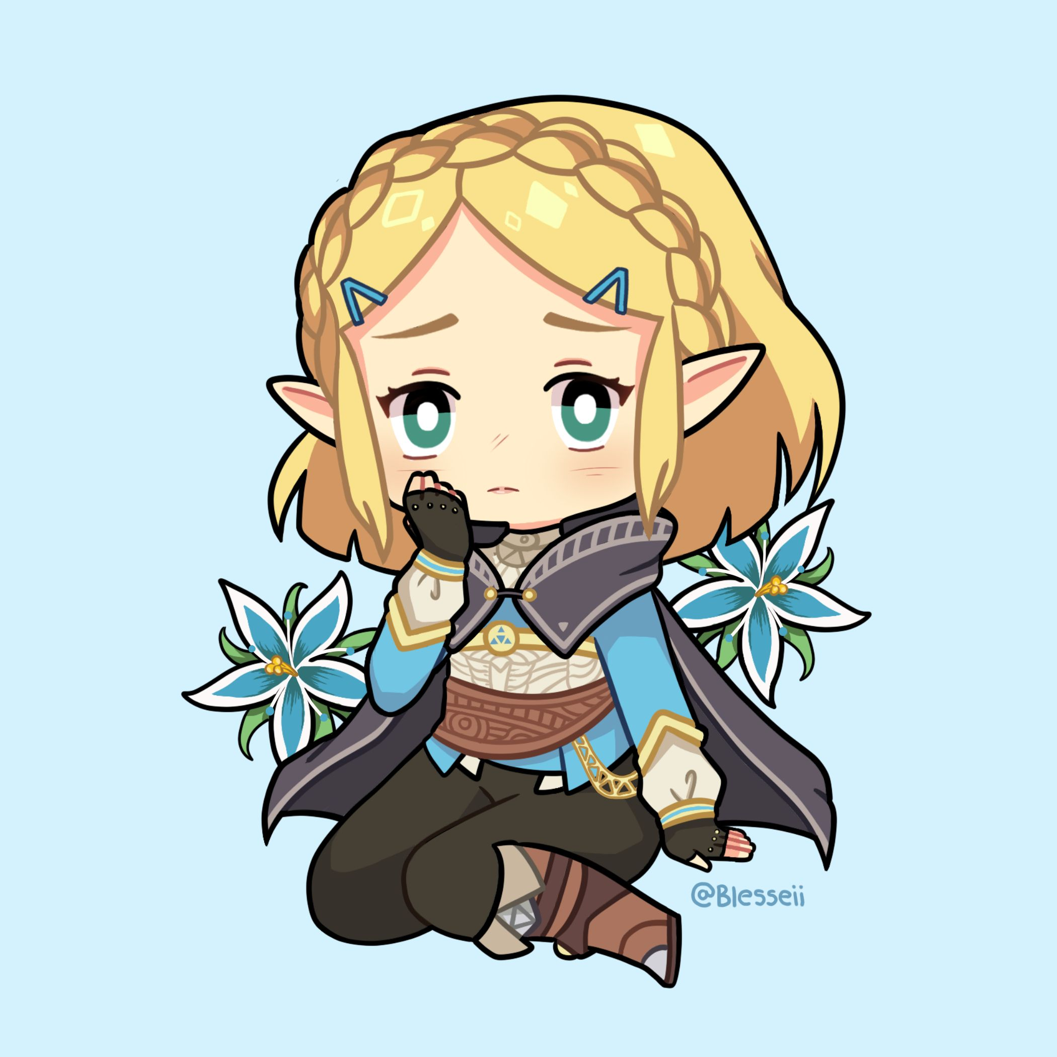 Short Haired Zelda Botw Oc I Posted This On Twitter And Ig I Thought I D Share Here Too U Character Art Chibi Legend Of Zelda