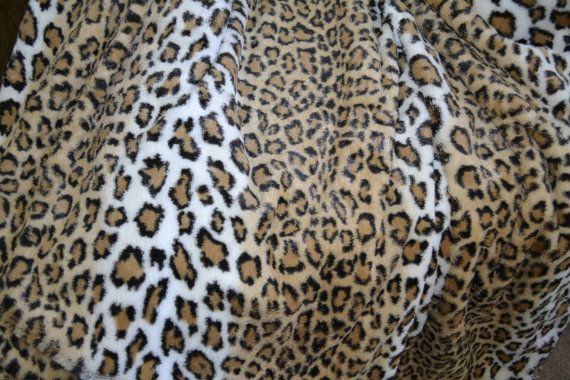 Animal Print Minky Faux Fur Blanket Throw by CindyHeitkampDesigns, $90.00