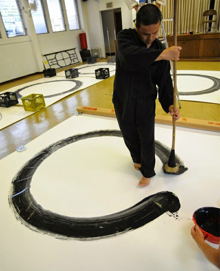 Contemporary Drawing Practices Broom Drawings Japanese Calligraphy Zen Art Principles Of Art