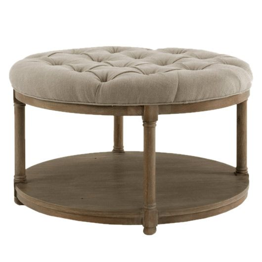 Brownstone Lorraine Round Cocktail Ottoman Layla Grayce
