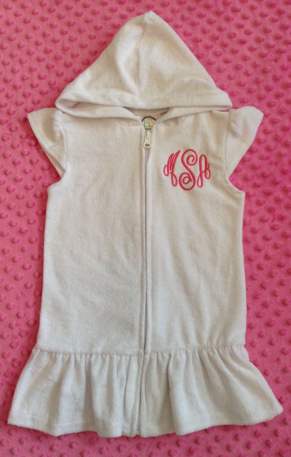 2a3255e2dbc07 Girl s Monogrammed Swimsuit Coverup-Terry Cloth Swim Coverup-Monogrammed  Coverup-Girls Clothing-Personalized Coverup-Birthday Gift- by  ButterflyStitchbyKZ ...