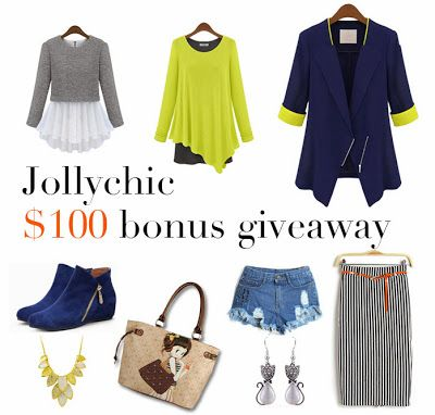 GIVEAWAY: $100 to shop at Jollychic.com!