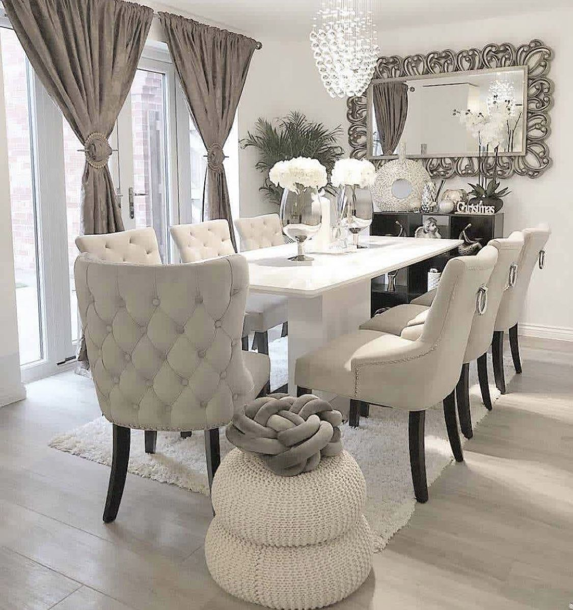 Minimalist Dining Room Ideas Designs Photos Inspirations: Pin By Sha-Toya Randall On Glam Living/Dining Room