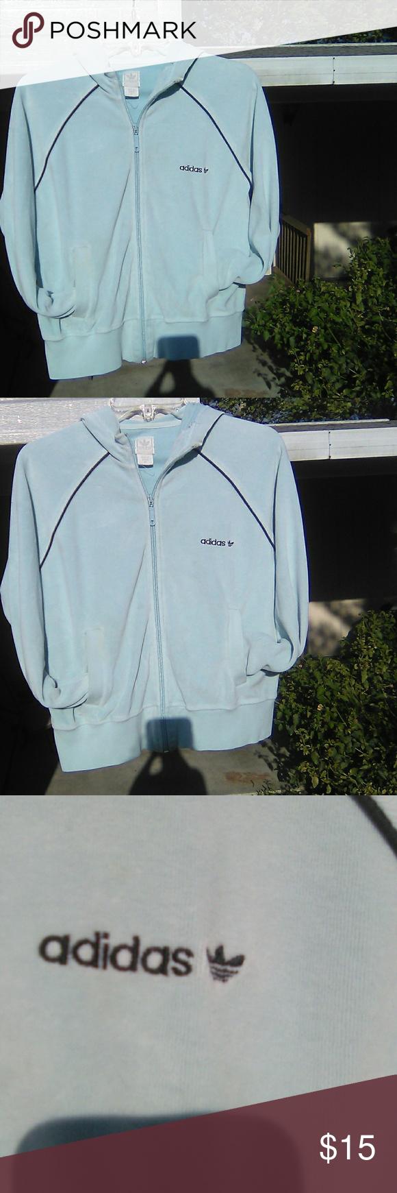 Sold Adidas Hoodie Women Vintage Adidas Light Blue Hoodie [ 1740 x 580 Pixel ]