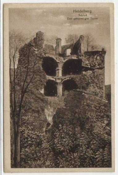 Heidelberg, Der gesprengte Turm