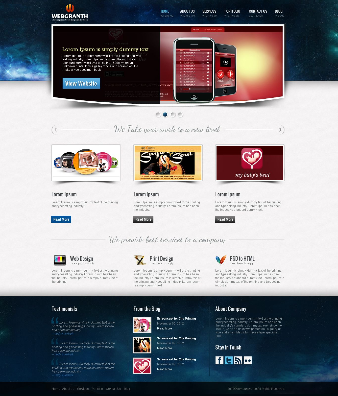 Web Development Template. website template 2 website designing ...