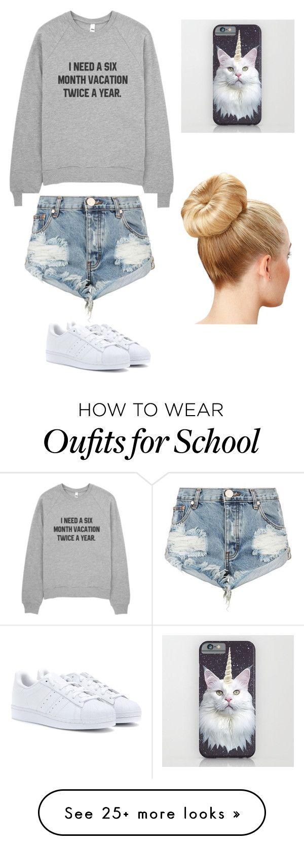 """School"" by cohensyd on Polyvore featuring One Teaspoon and adidas"