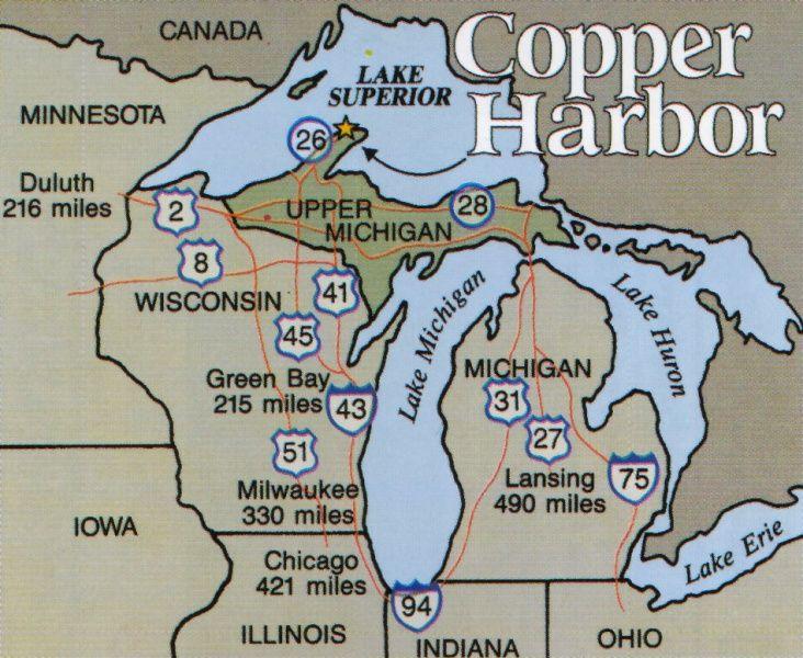 Copper Harbor Michigan Map Finds Pinterest Copper Harbor - Us 41 map