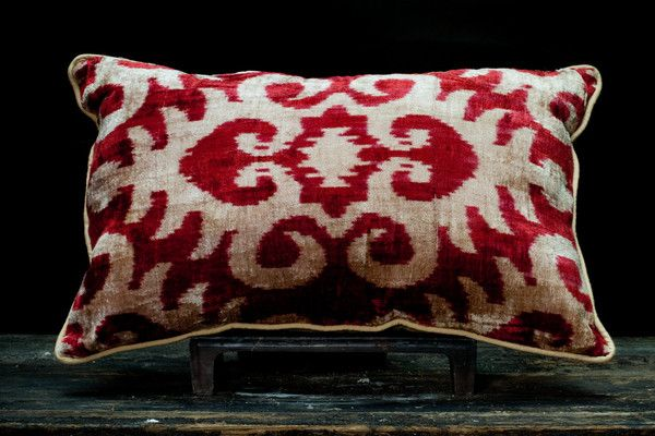 Velvet ikat pillow by rough rugs r o u g h s t u d i o s