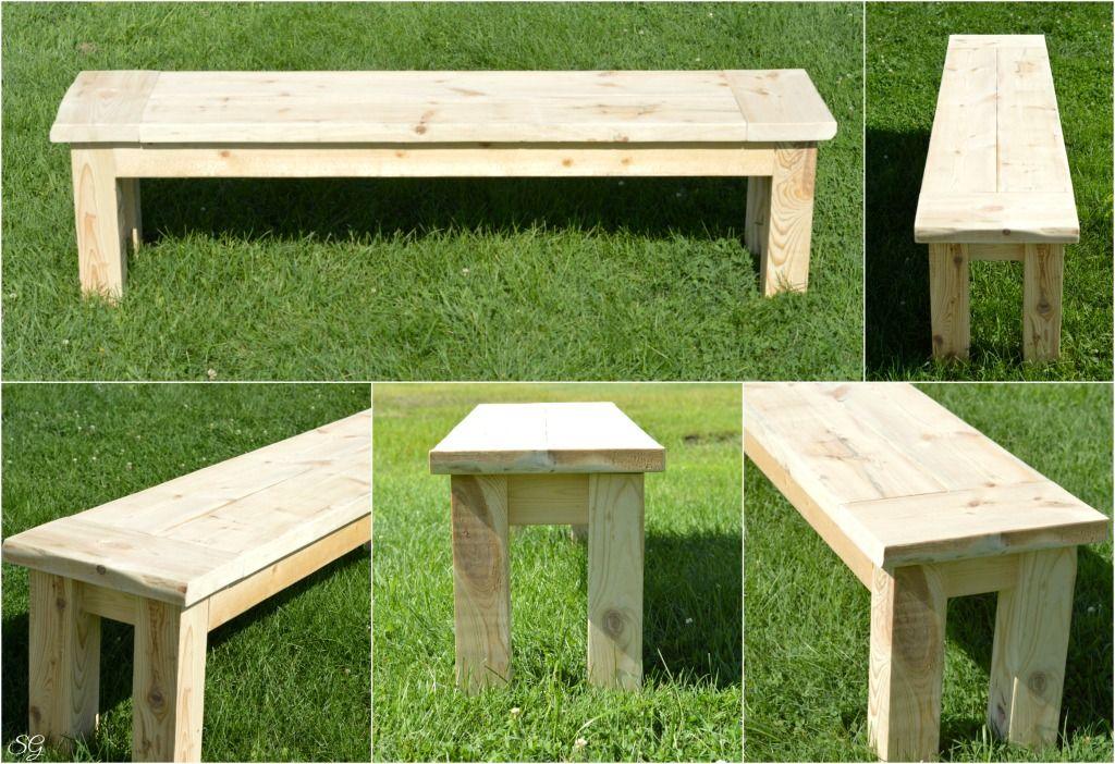 Easy DIY Seating Bench Tutorial Garden bench diy