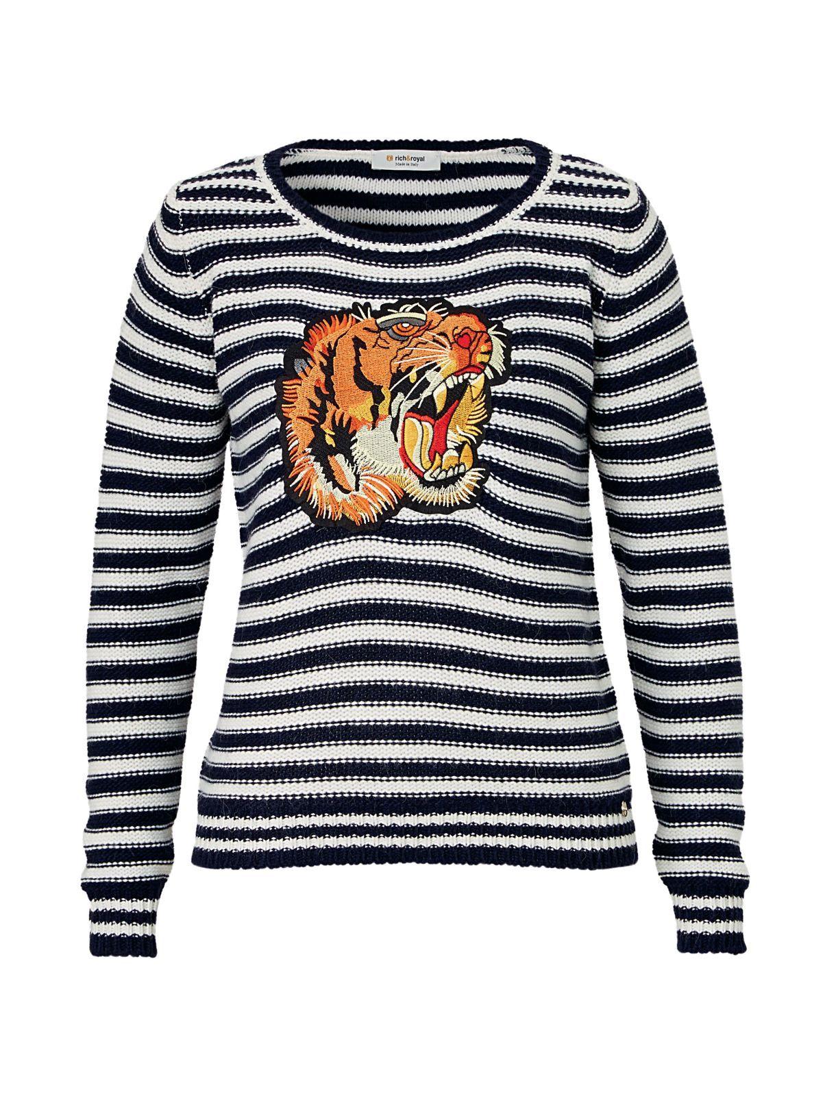 online store 20163 84dfc RICH&ROYAL Pullover, mit modisch angesagter Tiger ...