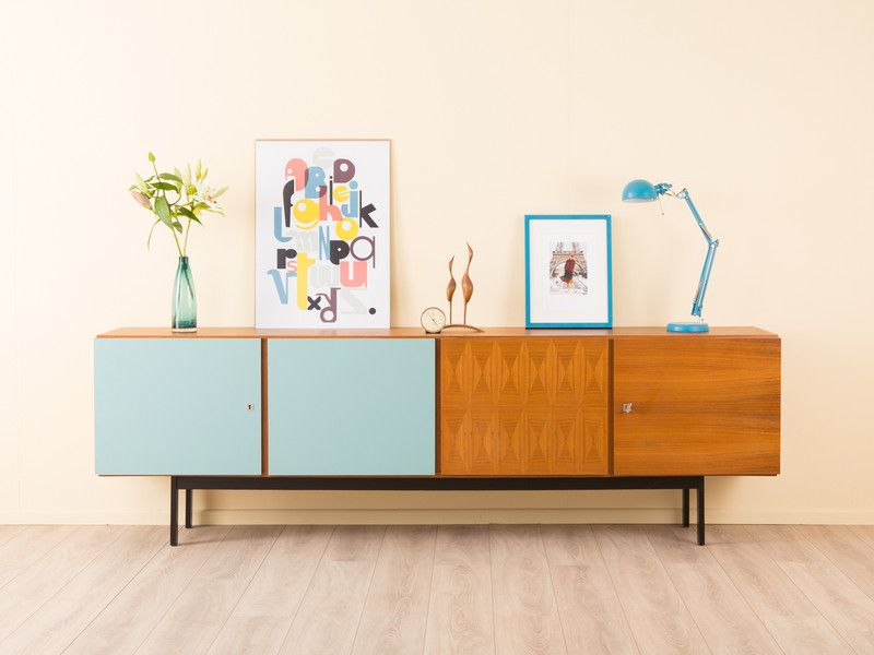 sideboard musterring 50er 60er kommode vintage von mid century friends auf. Black Bedroom Furniture Sets. Home Design Ideas