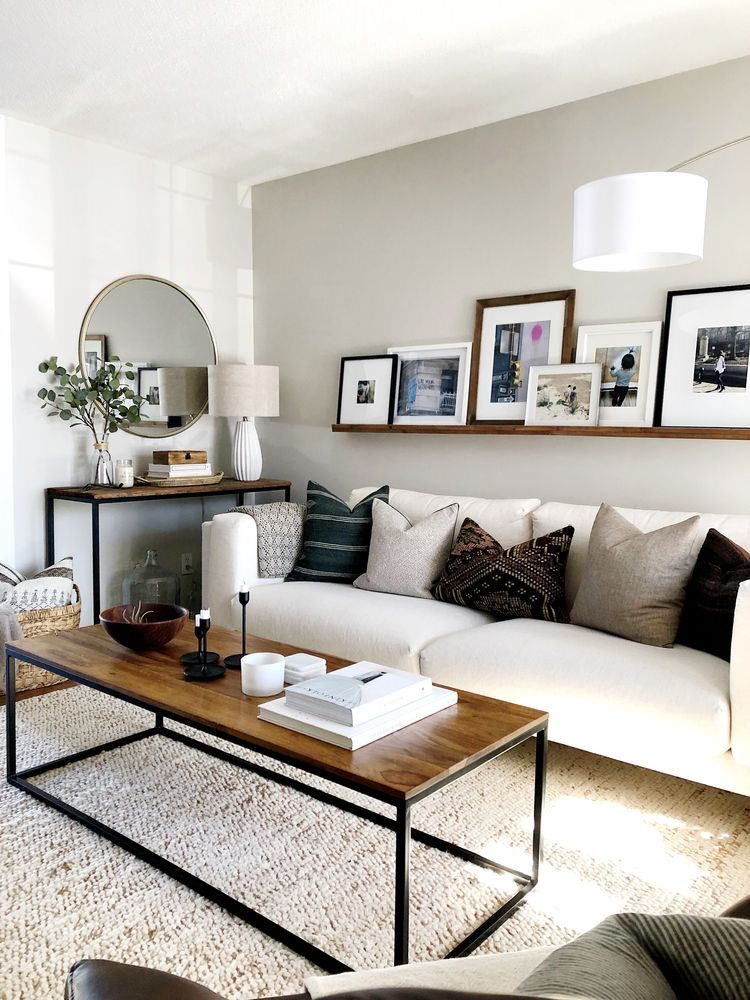 Natural neutral living room space ideas