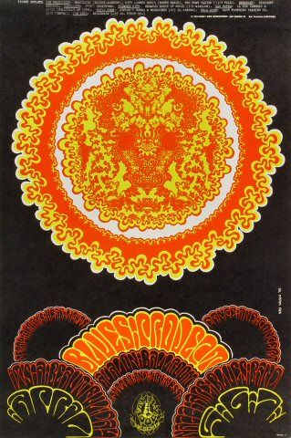 The Blues Project Poster - Rock posters, concert posters, and vintage posters from the Fillmore, Fillmore East, Winterland, Grande Ballroom, Armadillo World Headquarters, The Ark, The Bank, Kaleidoscope Club, Shrine Auditorium and Avalon Ballroom.