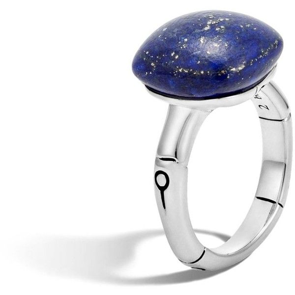 John Hardy Sterling Silver Bamboo Orb Ring with Lapis Lazuli (1.945 BRL) ❤ liked on Polyvore featuring jewelry, rings, bamboo jewelry, sterling silver jewellery, sterling silver jewelry, lapis lazuli ring and lapis lazuli sterling silver ring