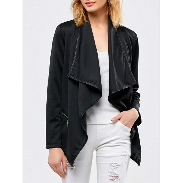 24.89$  Watch here - http://di5b5.justgood.pw/go.php?t=206740003 - Asymmetrical Open Front Jacket 24.89$