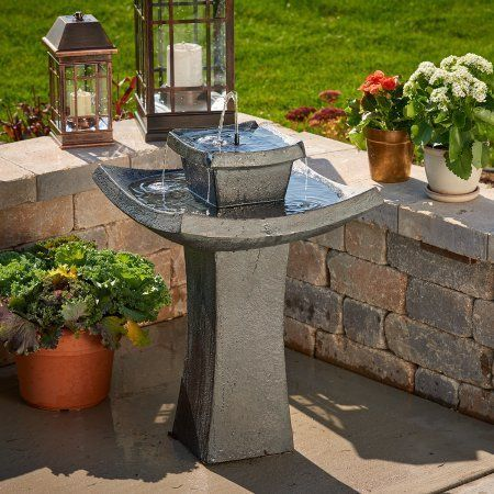 Smart Solar Modern Zen Solar-on-Demand Fountain #moderndecor