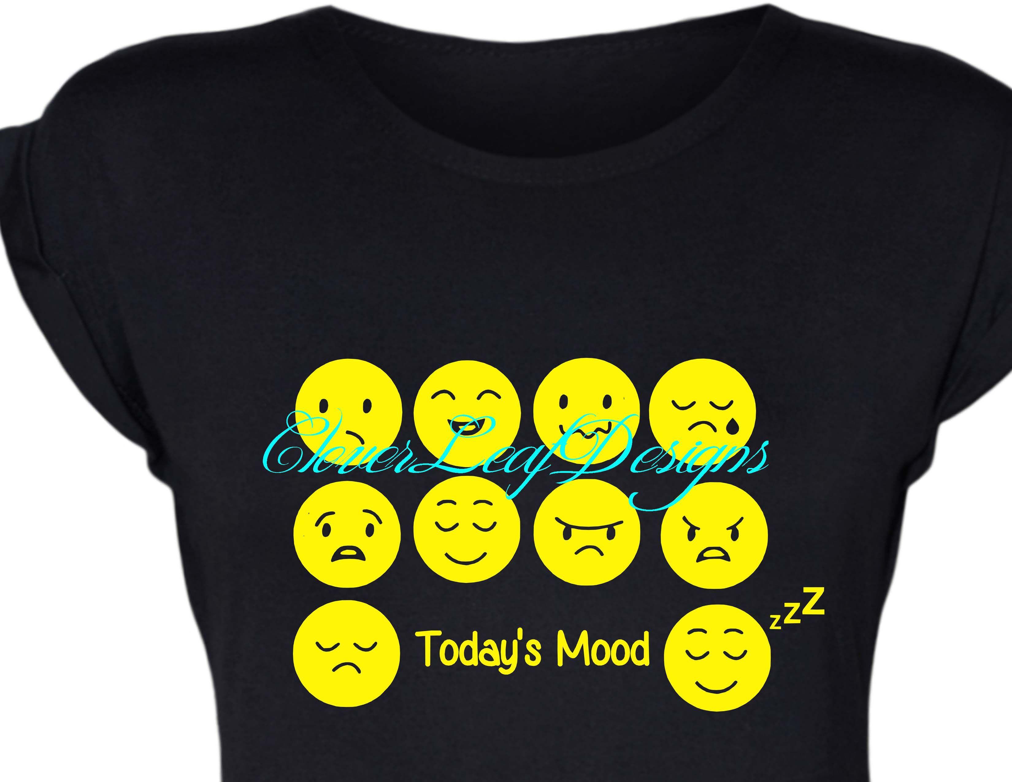 Today's Emoji Mood shirt.