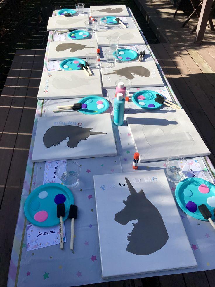 Photo of DIY UNICORN DREAMCATCHER #unicornbirthdayparty Unicorn painting party. Great for…