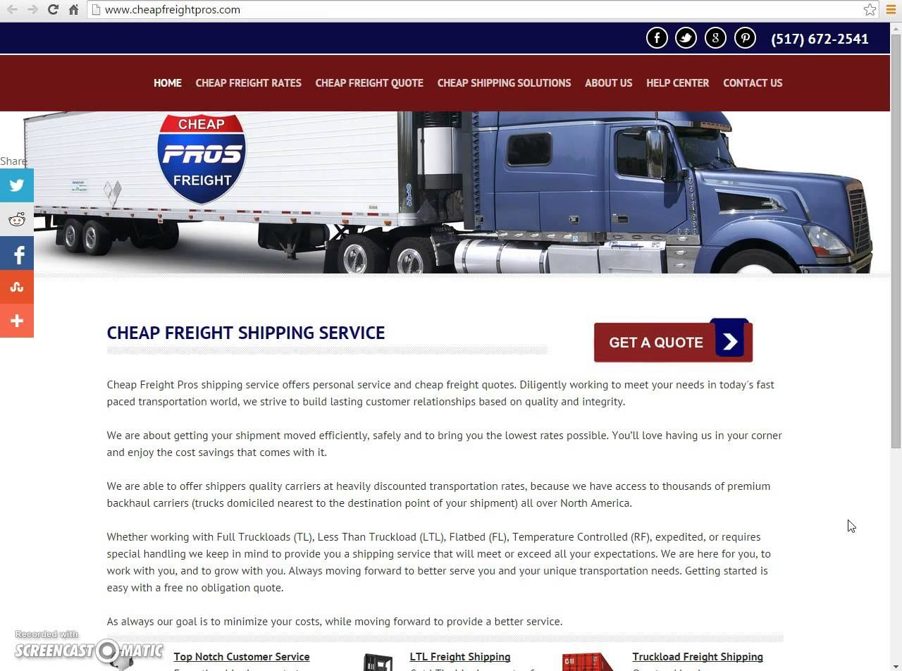 Freight Quote Com Freight Shipping For Your Business And Shipping Rates  Freight
