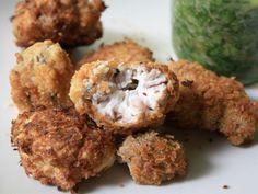 Deep-fried Brains.....otherwise known as fried offal.  creamy and wonderful in flavor