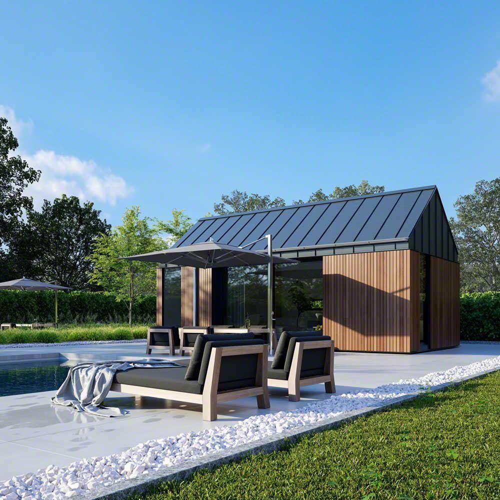 Prefab Pool House Guest Suite