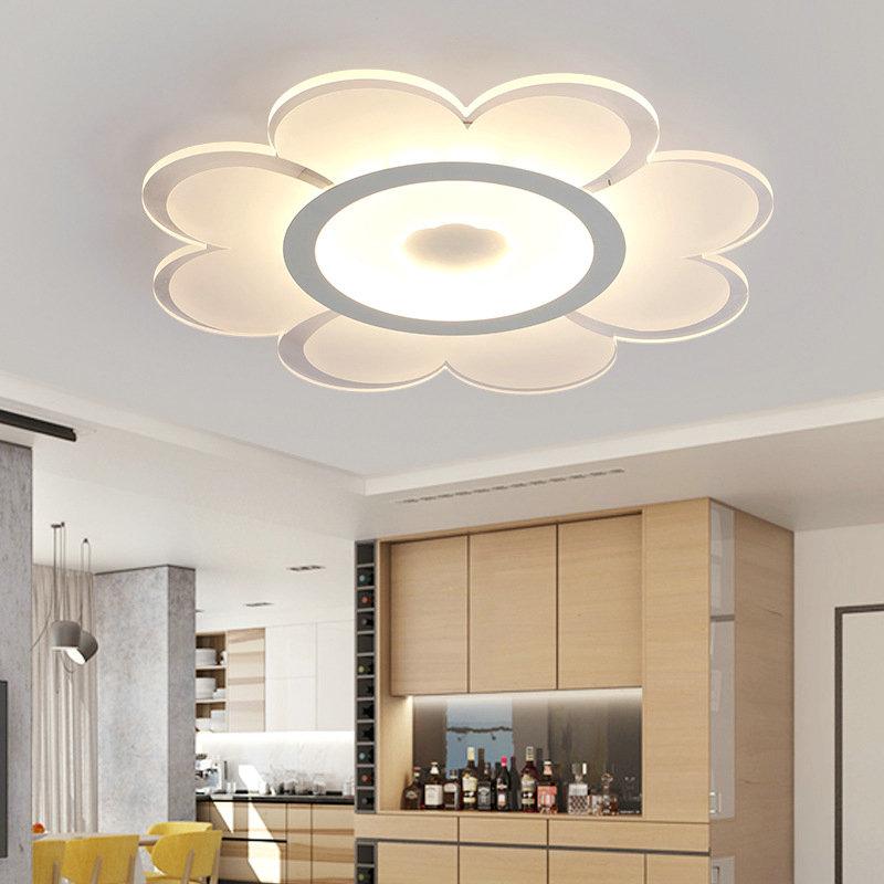 Modern Simple Led Flush Mount Flower Shape Dining Room Bedroom Lighting Ceiling Design Living Room Ceiling Design Bedroom House Ceiling Design
