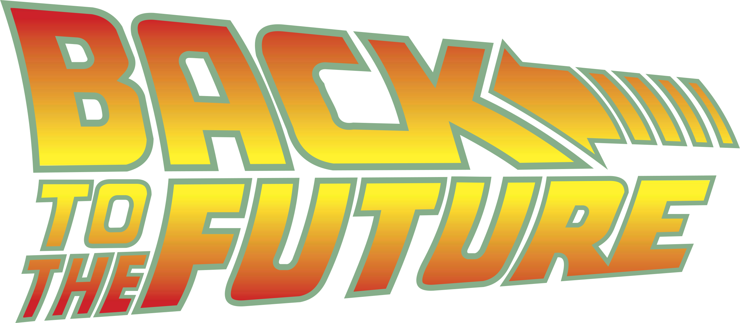 Back To The Future Logo Png Transparent With No Background Future Logo Back To The Future Logos