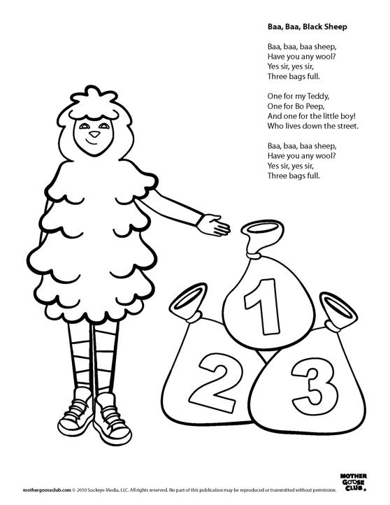 Coloring Pages Baa Baa Black Sheep Live Speakaboos Worksheets