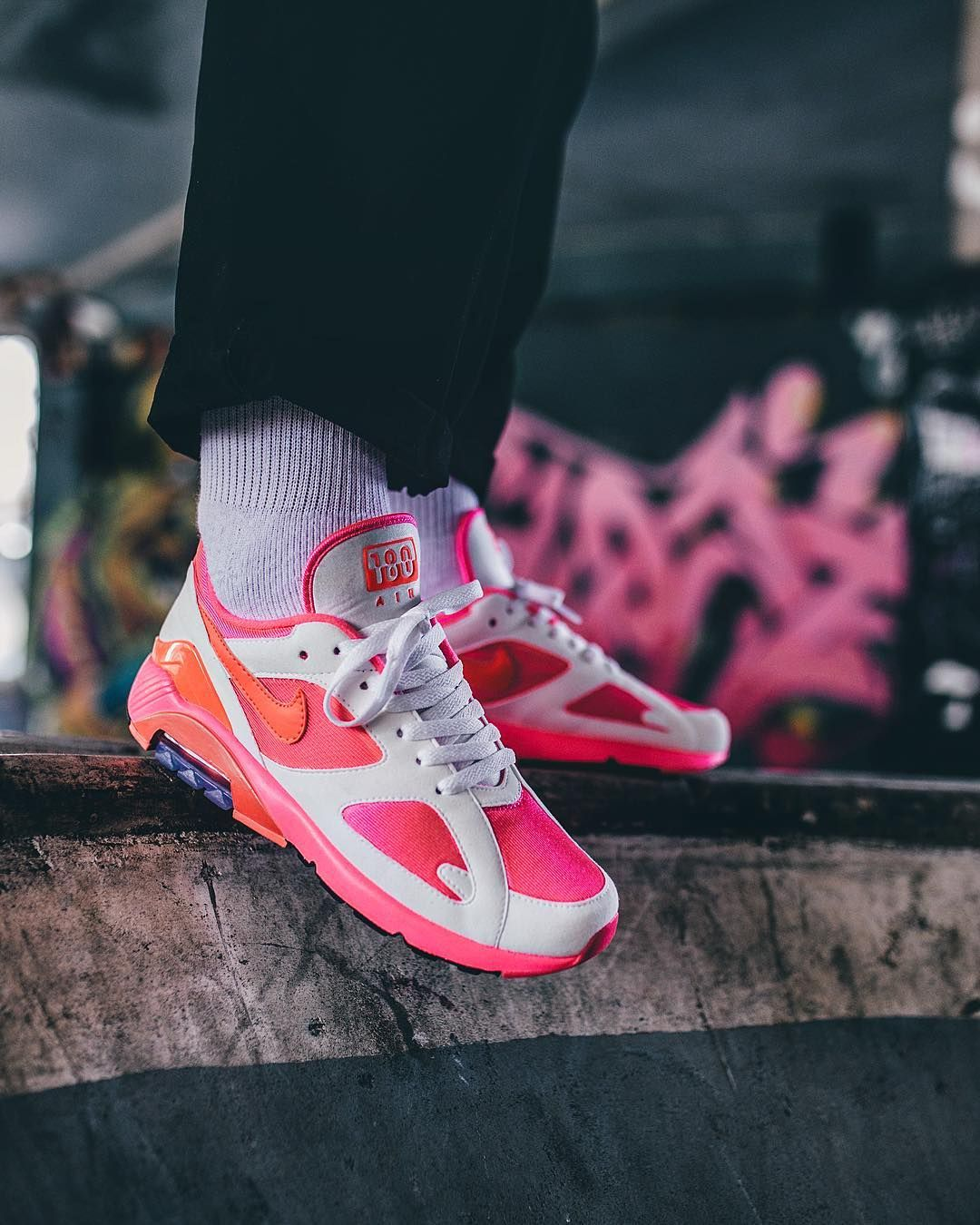 2287bc6528 COMME des Garcons x Nike Air Max 180 CDG Pink AO4641-602 | nike from ...