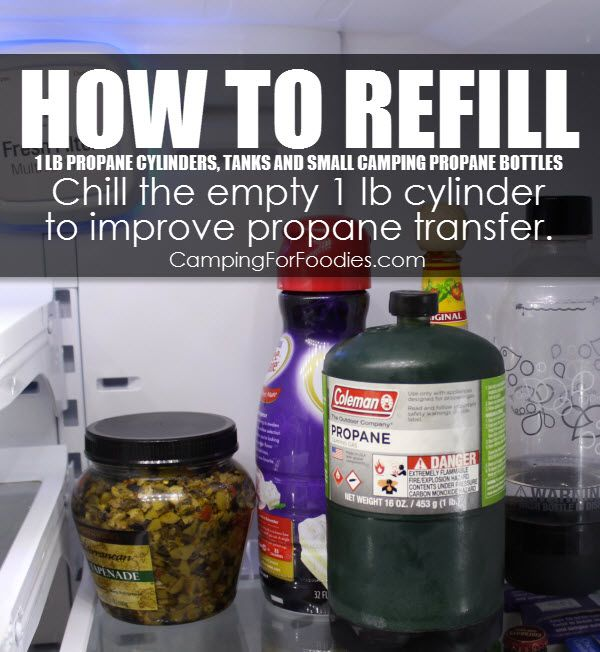 """Photo of How To Refill """"Disposable"""" Small Camping Propane Bottles!"""