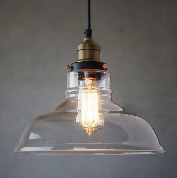 Plafondverlichting Glas Clear Glass Pendant Light Farmhouse Chandelier By