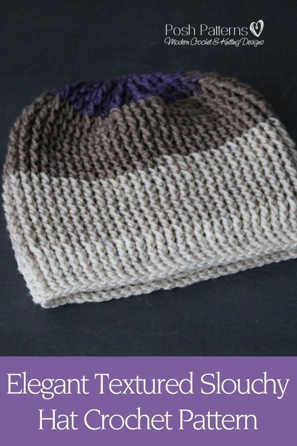 Crochet Pattern An Fun And Easy Crochet Slouchy Hat Pattern That