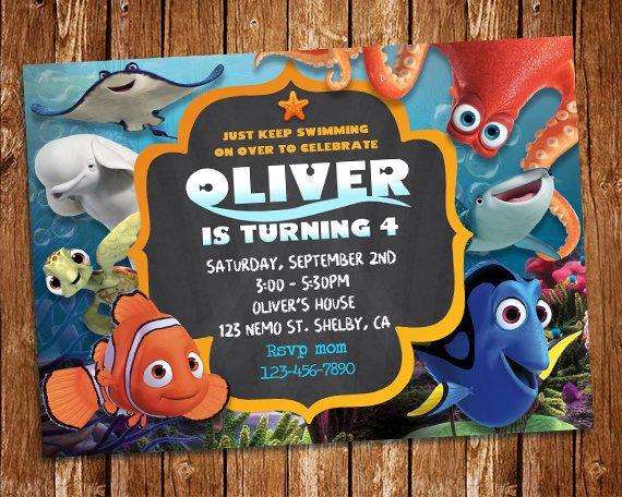 Finding Dory Invitation Finding Dory Invite Finding Nemo