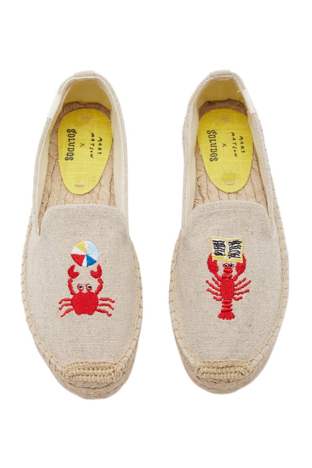 0ab61c22ccea Mary Matson Lobster   Crab Platform Espadrille Flat by Soludos on  HauteLook