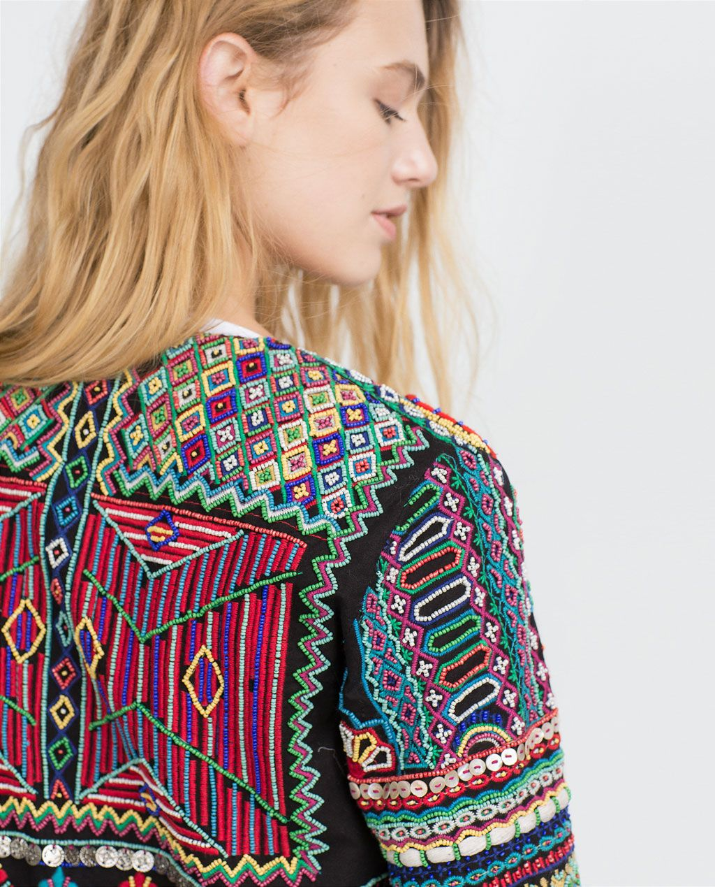 EMBROIDERED JACKET from Zara | Embroidered jacket, Lush
