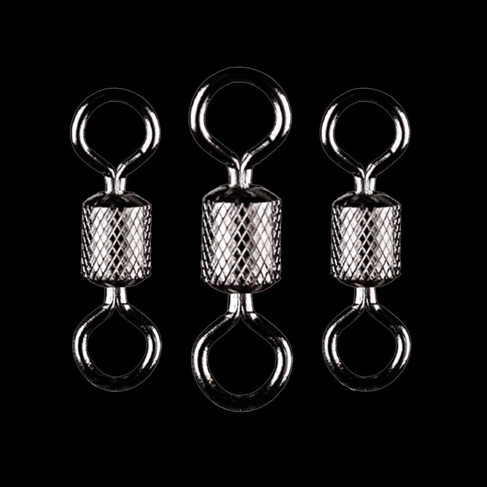 100pcs Lot Stainless Steel Fish Fishing Hooks Connectors Ball Bearing Swivel Solid Rings Outdoor Fishing Tackle Tool