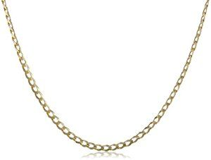 """Men's 14k Yellow Gold 3mm Cuban Chain Necklace, 22""""  http://electmejewellery.com/jewelry/mens-jewelry/mens-necklaces/men39s-14k-yellow-gold-3mm-cuban-chain-necklace-22-com/"""