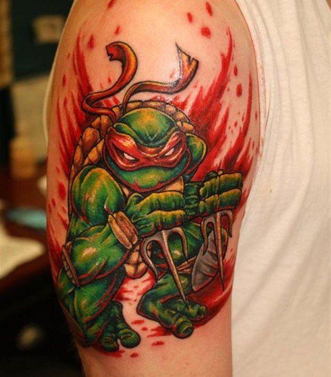 Teenage Mutant Ninja Turtles Raphael Tattoo Ninja Turtle Tattoos