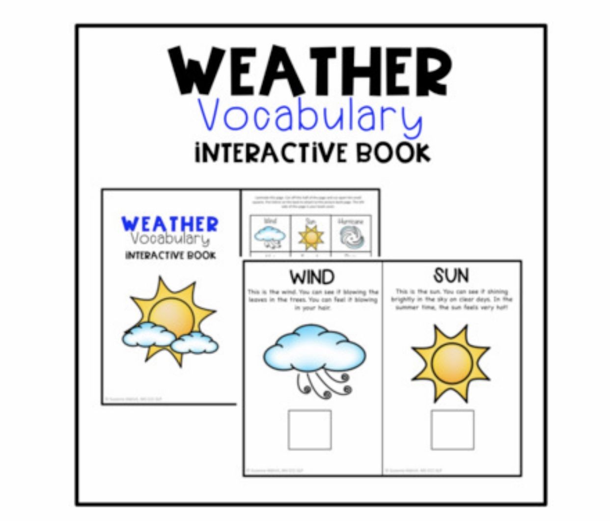 Weather Vocabulary Interactive Book And Activities