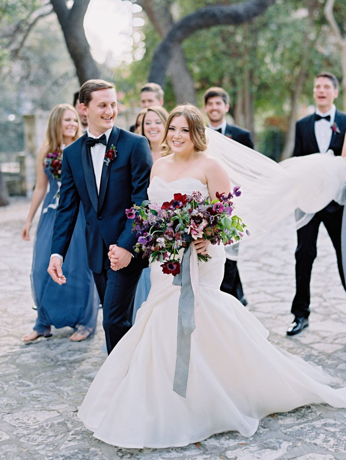 A Moody Blue Wedding Inspired by The Bride's Love of Fine Art