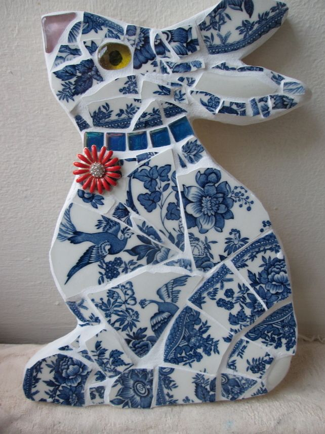 mosaic rabbit in china mosaic animals toile. Black Bedroom Furniture Sets. Home Design Ideas