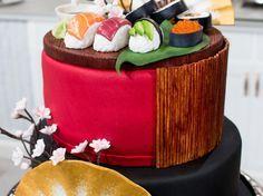 Tårta med hallonmousse och glasskräm