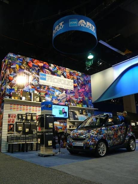 Custom Booth Display With Vehicle Branded Company Car Show Booth - Car show booth ideas
