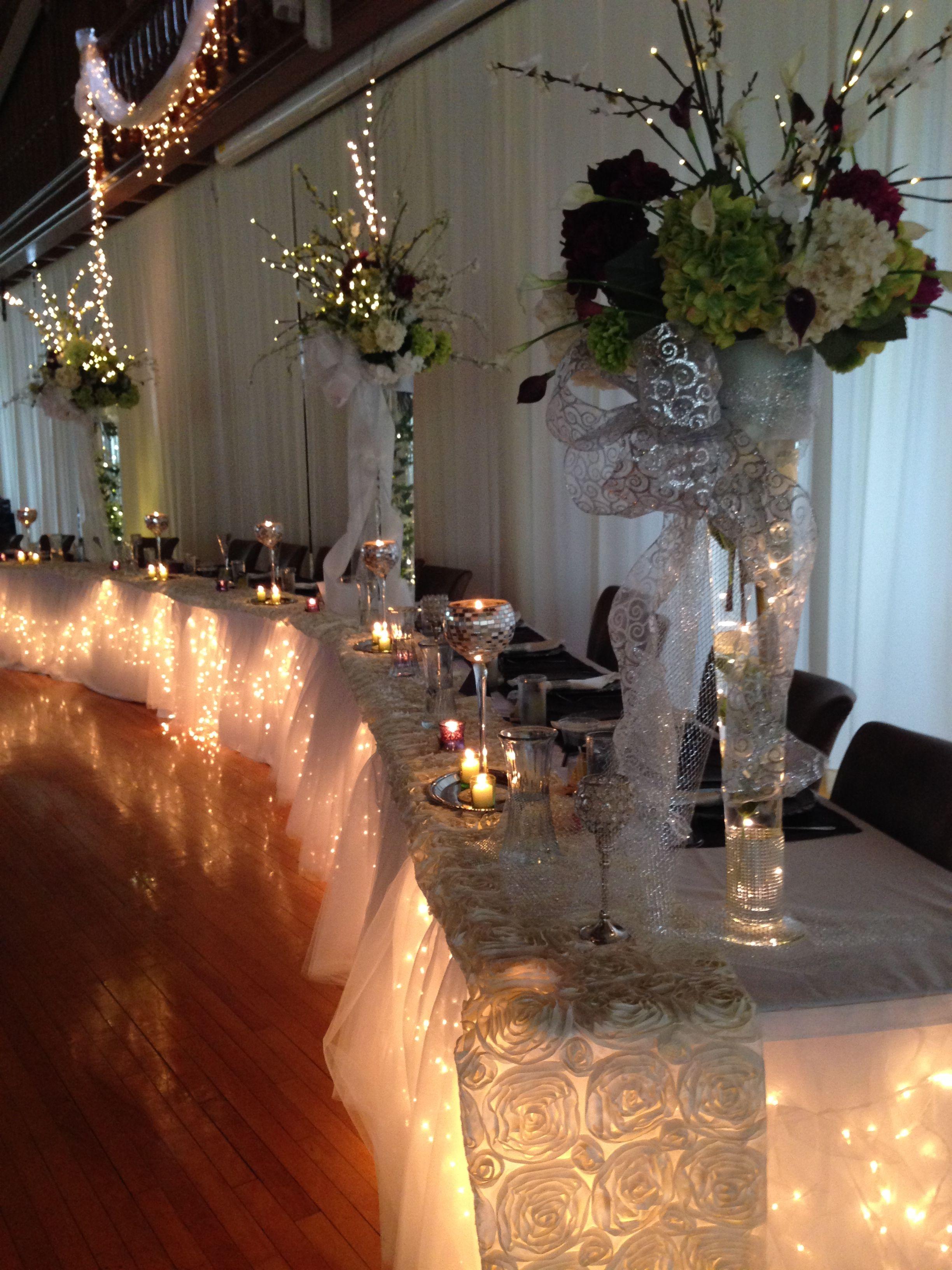 Head Table | Table decorations, Decor, Table