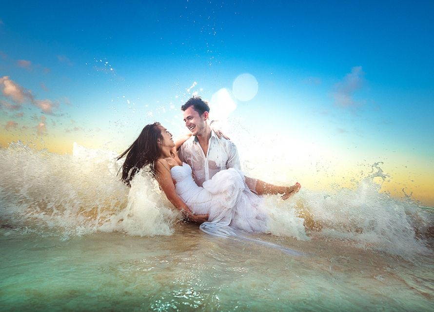 In Water Engagement Photoshoot Trash The Dress Session I Shot At Majestic Colonial Punta