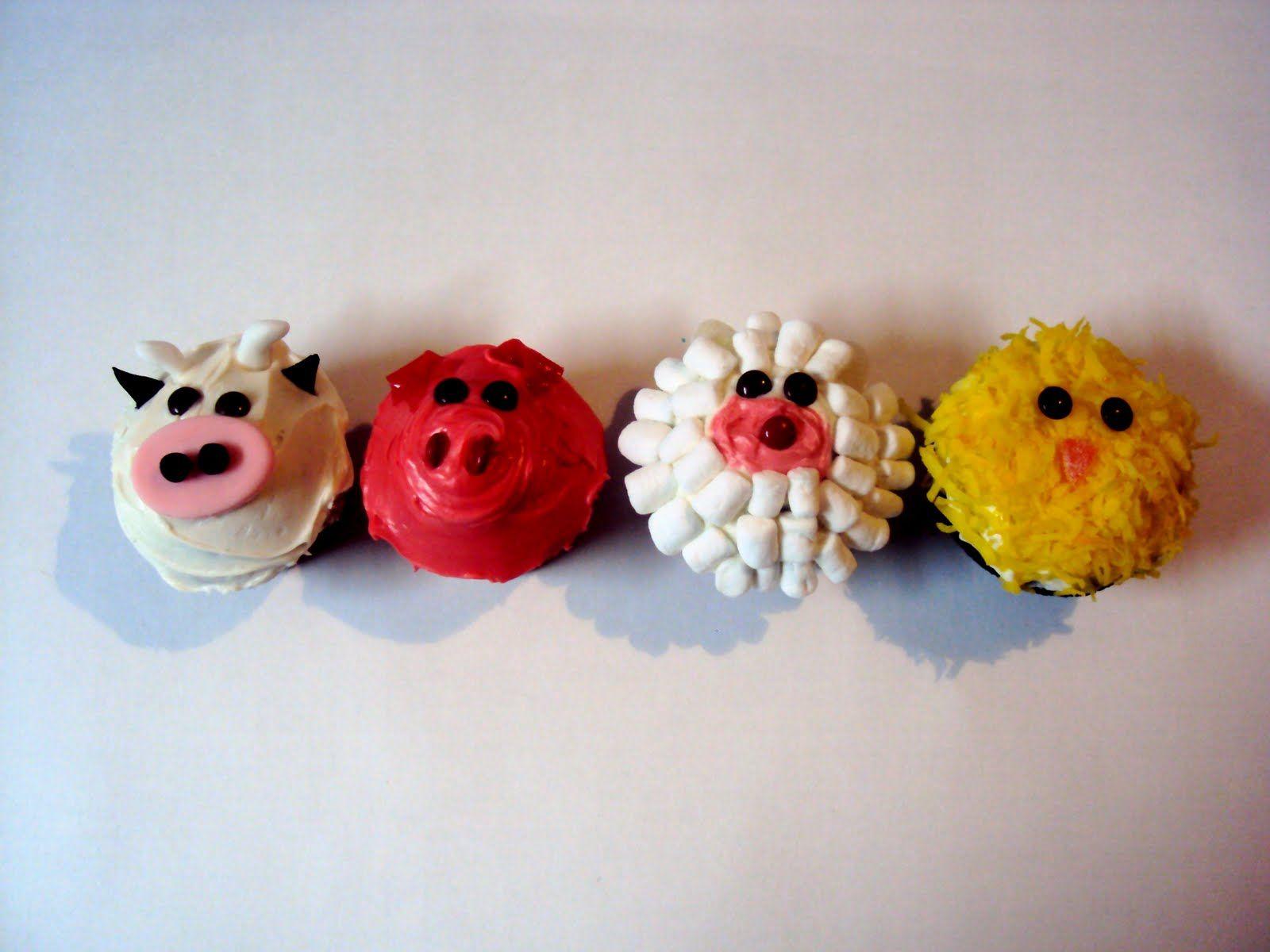 Farm animal cupcakes cupcakes pinterest