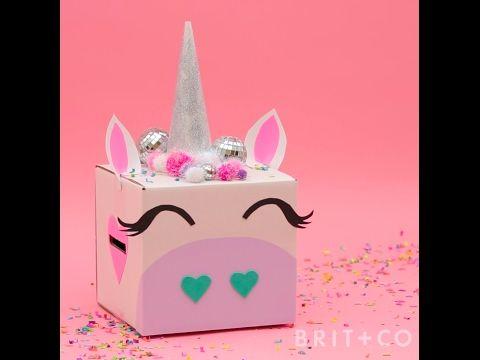 How to DIY a Unicorn Valentines Box  YouTube  for my unicorn